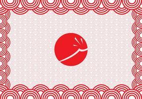 Graphique japonais gratuit vecteur