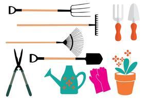 Vecteurs d'équipement de jardin vecteur