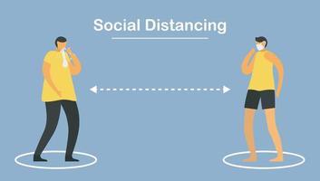 distanciation sociale. éloignez-vous des gens.