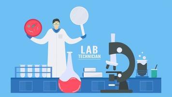 conception infographique de technicien de laboratoire vecteur