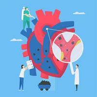 conception d'examen de cardiologie vecteur