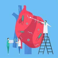 infection du cœur et élimination de l'infection conception de l'endocardite