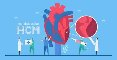 concept de hcm de cardiologie vecteur