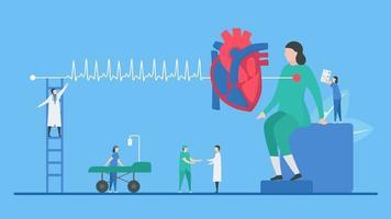 tachycardie, arythmie, patient, examen, concept vecteur