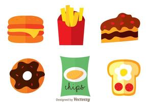 Icônes alimentaires délicieuses vecteur