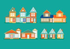 Maisons de villages vectoriels vecteur