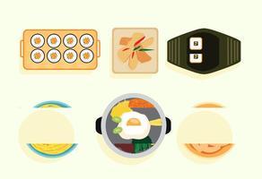 Vecteurs alimentaires coréens vecteur