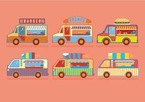 Vecteurs de camions alimentaires vecteur