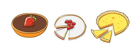 jeu de tartes variées