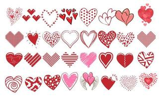 collection coeur doodle