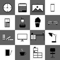 jeu d'icônes de technologie de bureau à domicile