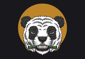 panda manger du bambou vecteur