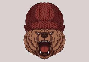 tête d'ours en colère vecteur