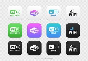 Jeu gratuit de vecteur logo wifi