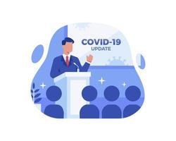 mise à jour des nouvelles sur les coronavirus vecteur