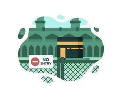 kaaba temporairement fermé vecteur