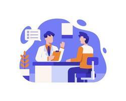 docteur, consultation, patient vecteur