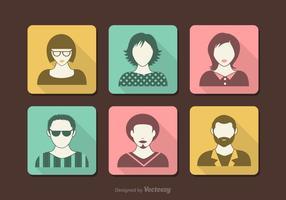 Icônes vectorielles rétro d'avatar