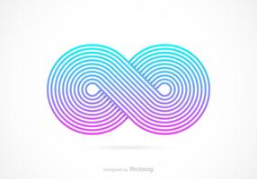 Vecteur de symbole rétro rétro Infinity