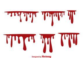 Vecteurs de gouttes de sang