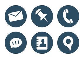 Ensemble vectoriel d'icônes de bureau