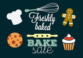 Vecteurs de boulangerie vecteur