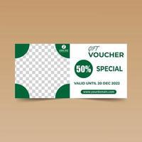 chèque cadeau vert modèle de conception soigné