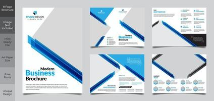 conception de modèle de brochure d'entreprise carré