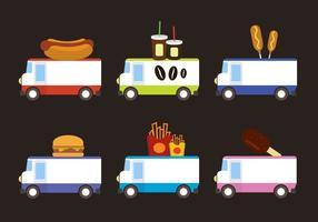 Camions de nourriture vecteur