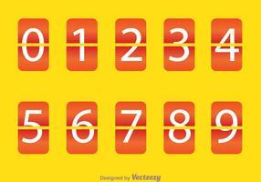 Compteur en chiffres carrés orange