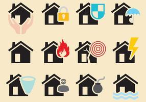 Vector des catastrophes naturelles à la maison