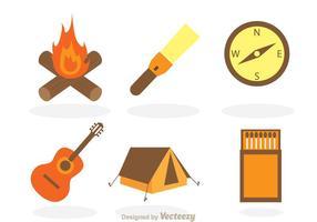 Articles vectoriels de camping vecteur