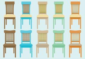 Vecteurs de chaise en osier vecteur