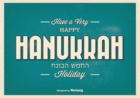 Bonne illustration typographique de Hanoucca vecteur