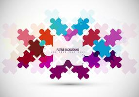 Fond de vecteur de pièce de puzzle