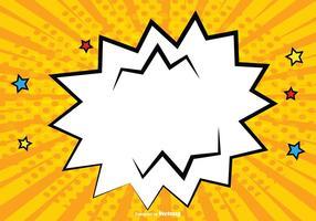 Illustration d'arrière-plan en bande dessinée vierge
