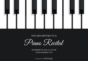 Invitation de récital de piano à vecteur gratuit