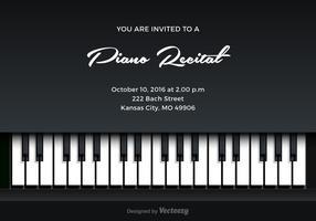 Invitation de vecteur de récital de piano gratuit