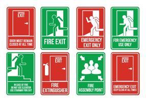Vecteurs de sortie d'urgence vecteur