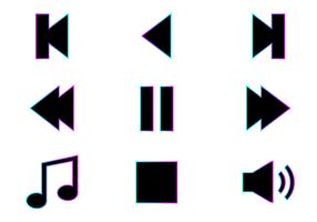Vecteur libre d'icônes de musique