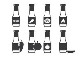 Icône de sauce à la bouteille vecteur