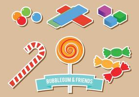Bubblegum et les amis vecteur