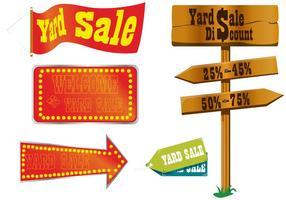 Vecteurs de signe de vente de cour vecteur