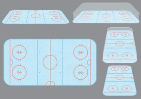 Vecteurs de patinoire de hockey sur glace