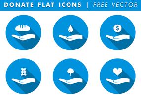 Donner des icônes vecteur gratuit