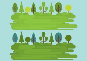 Paysages d'herbe vecteur