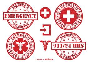 Ensemble d'insigne d'urgence vecteur