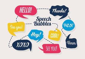 Ensemble coloré gratuit de bulles de discours vecteur