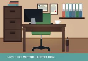 Illustration vectorielle du bureau de loi vecteur