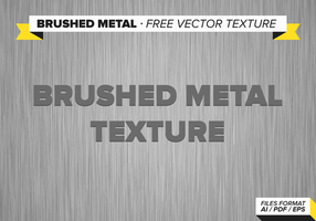 Texture de vecteur libre de métal brossé